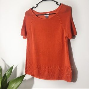 Old Navy | Orange Short Sleeve Knit Top Size S